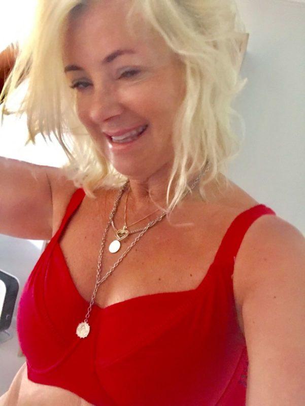 rød bikini fra Change badetøy